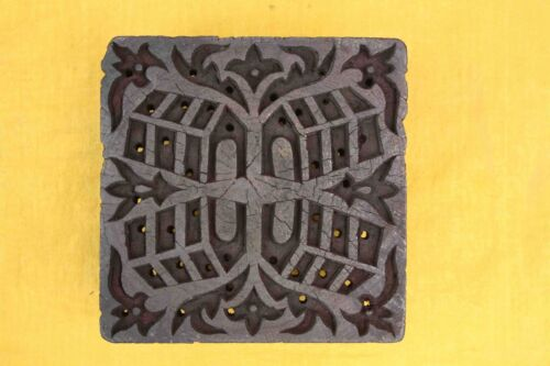 Handcarved Traditional Textiles wood printing Block floral printing blocks India