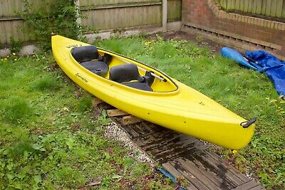 Perception Kiwi 2 Tandem Two seater Canoe / Kayak with paddles