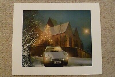 1969 Porsche 911 / 912 Coupe Showroom Advertising Sales Poster RARE!! Awesome