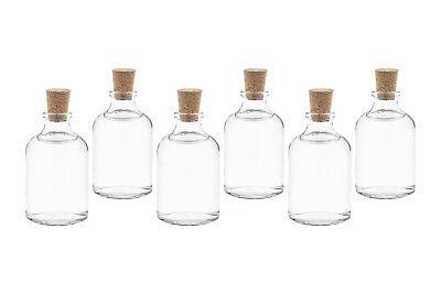 laschen Kleine mini Fläschchen mit Korken auch 20 40 100 ml  (Glas Flasche Mit Korken)