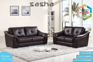 CLEARANCE NEW Genuine Leather/Fabric/Air Gel Leather Lounge Sets