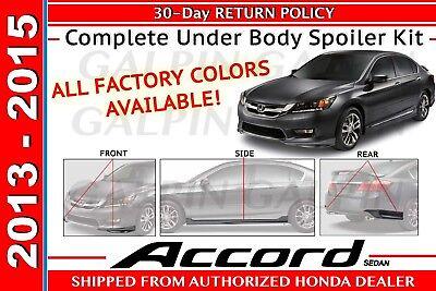 Genuine OEM Honda Accord 4Dr Sdn Full Under Body Spoiler Kit 2013 - 2015 Sedan
