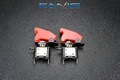 2 Pcs Toggle Switch On Off Rocker Red Led 12v 20 Amp Race Nitrous Eps-3015rd