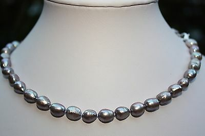 A25G 46 cm Süßwasser Perlen Schmuck Perlenkette Halskette Ketten Collier barock