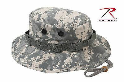 Boonie Hat Army ACU Digital Camouflage Military RIP STOP Cap ROTHCO 5869 Army Digital Acu Camo Camouflage