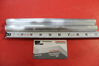 2 Pieces 34 Aluminum Round 6061 Rod 10 Long Solid T6511 .75 New Lathe Stock