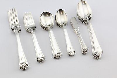 Spanish Art & Crafts Jaume Mercade Queralt 916 Silver 36 Piece Flatware Set