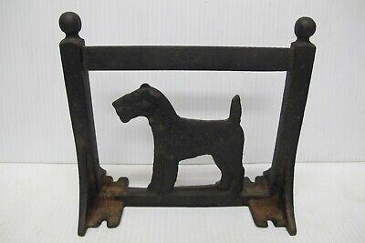Antique or Vintage Cast Iron Schnauzer / Scottie Dog Boot Scraper or Door Stop