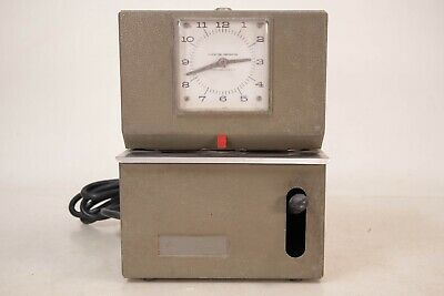Vintage Lathem Manual Time Clock Heavy Duty Mcm Retro Time Art Deco Modern