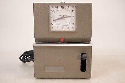 Vintage Lathem Manual Time Clock Heavy Duty Mcm Retro Time Art Deco Modern