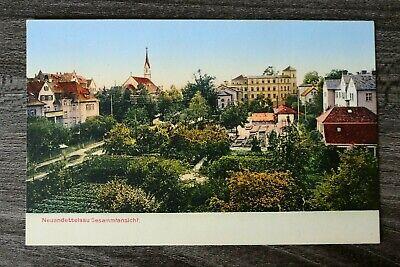 Bayern AK Neuendettelsau 1905-20 MFR Straße Gärten Ort Häuser Gebäude Kirche (1 ()