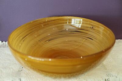 Joseph Joseph Salad Bowl - JOSEPH ABBOUD VENTANA TOFFEE SWIRL GLASS SALAD BOWL