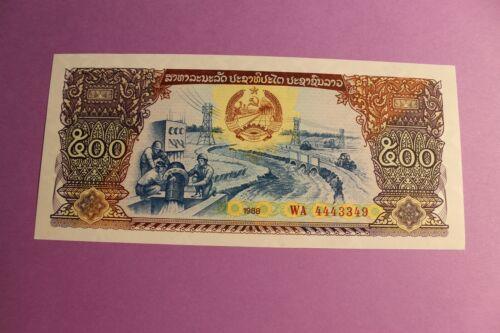 Lao/Laos, 1988, 500 Kip; Crisp Un-Circulated Banknote