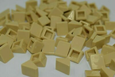100 NEW LEGO Tan (Brick Yellow) 1x1 2/3 Roof Tiles Slope Bricks 54200 4516055