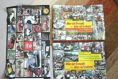 Oldtimer Plakate, 2x Lindenfels Oldtimer Spießbraten Rallye, 1x Autoverm. Raule