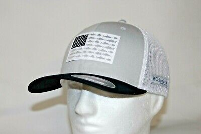 Columbia PFG Logo Flexfit 110 Visor Adjustable in Carbon and White w//FREE Decal