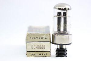 6080GB TUBE - 6080 TUBE. SYLVANIA BRAND TUBE. SIMILAR TO 6AS7G TUBE. NOS/NIB.