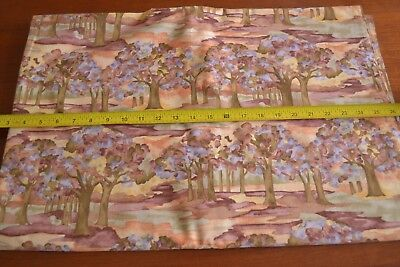 Scene Quilt Fabric - By 1/2 Yd Orange Rust Brown Outdoors Scene Quilting, Fabric Traditions/2001 N653