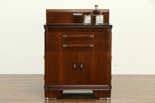 Art Deco Physician, Medical, Dentist, Bath or Bar Cabinet, Hamilton #33049