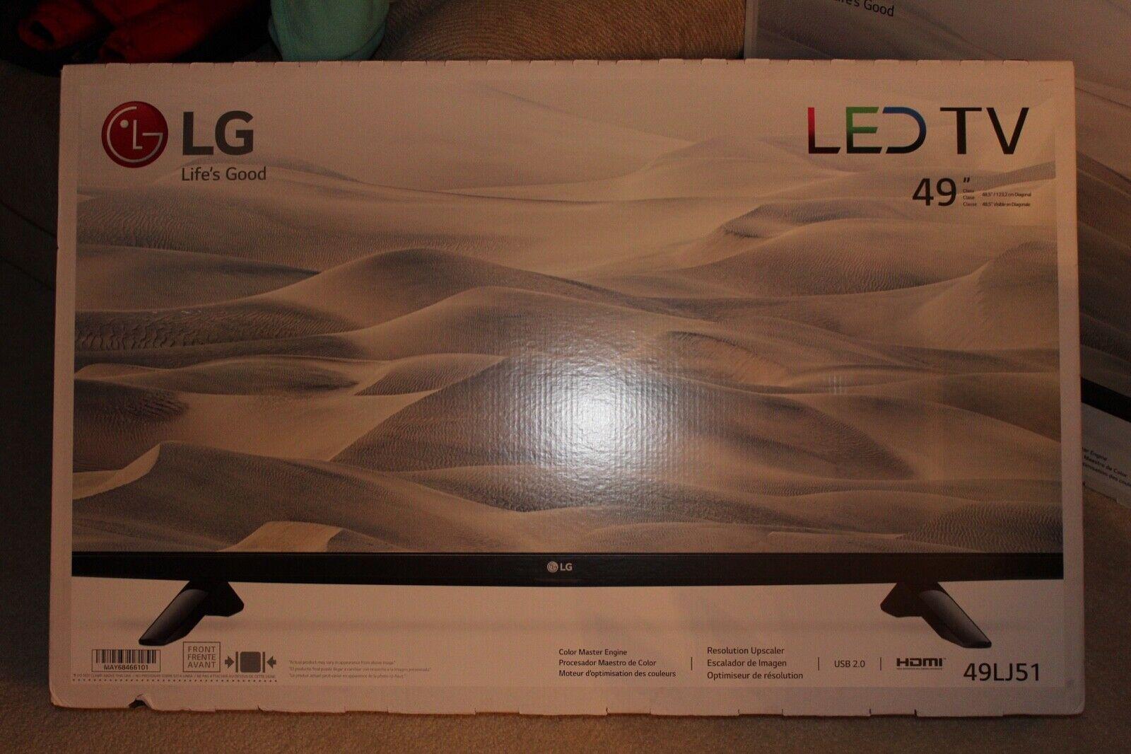 LG 49 INCH LED T.V. 49LJ51 NEW IN BOX ILLINOIS PICK ONLY,,,,
