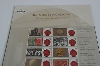CS22 2013 Bertram Mackennal Royal Mail Commemorative Smilers Sheet