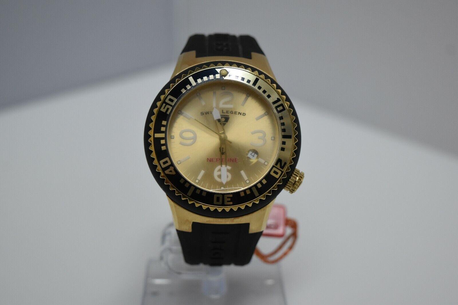 Swiss Legend Swiss Sapphitek 48mm SL-21848P Watch Black/YG/Gold