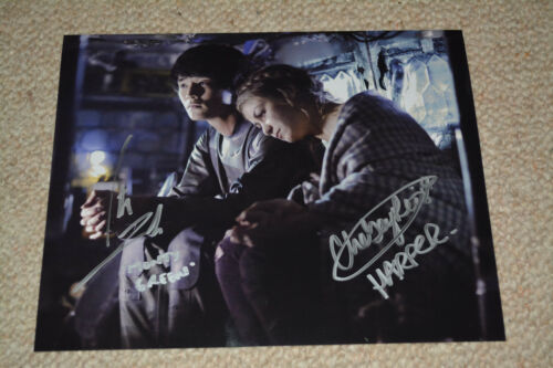 CHELSEY REIST& CHRISTOPHER LARKIN signed Autogramm  In Person THE 100