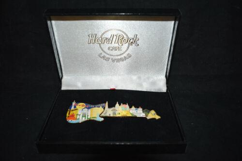 HARDROCK Cafe Pin  NEW IN CASE Las Vegas Set 03   Guitar