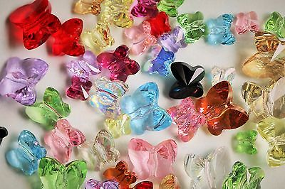 Swarovski #5754 BUTTERFLY Crystal Beads 10mm, 8mm, 6mm, 5mm, AB Special Effects