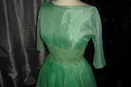 Rita Hayworth Owned & Worn Green Silk Chiffon Cocktail Dres from Costumer Warner