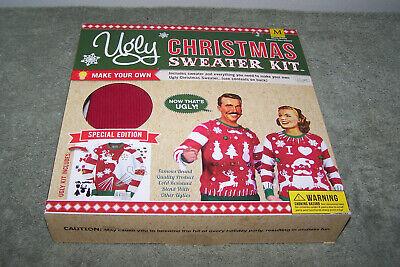 DIY Ugly Christmas Sweater Kit Make Your Own Ugly Sweater Sz Large RED](Ugly Sweater Kits)