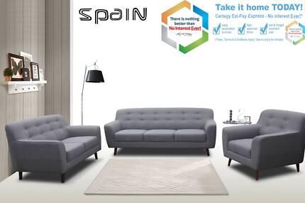 Brand New European Design  Fabric/Leather   3+2+1 Seater sofas