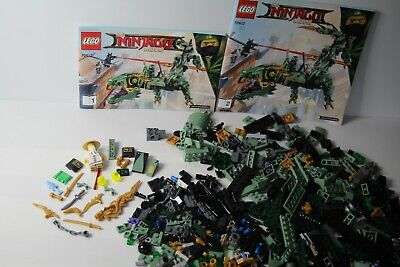 Lego 70612 The Ninjago Green Ninja Mech Dragon mit Anleitungen nicht vollständig