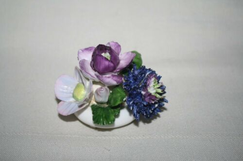 "ROYAL ADDERLEY Floral Bone China Made in ENGLAND Porcelain FLOWER BOUQUET 2.75""T"