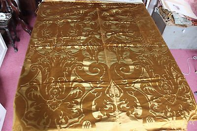 """Antique French 19thC Woven Silk Home Dec Frame Textile Fabric~1yd16""""LX51""""W"""