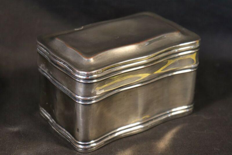 Antique VICTORIAN OR GEORGIAN STERLING TEA CADDY BOX 170 g