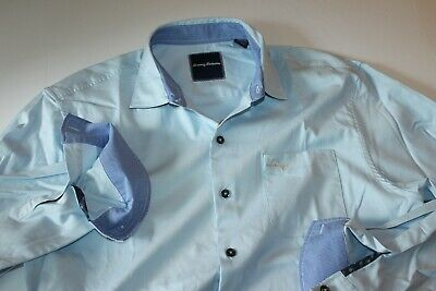 Tommy Bahama Shirt Oasis Twill Icicle Blue Silk T317385 New LS Medium M Tommy Bahama Oasis