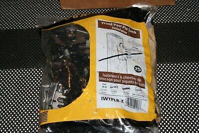 Lot Of 125- Zareba Iwtplb-z Electric Fence Insulators Black 5 Bags Of 25each