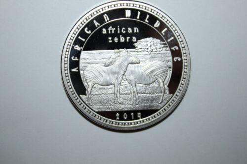2014 ZAMBIA1000 KWANCHA PROOF COIN AFRICAN ZEBRA