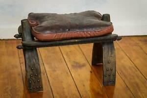Antique Vintage early 1900's era Camel saddle Stool