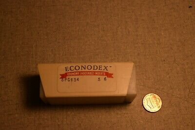 Econodex Spg634 S6 Carbide Inserts Lot Of 10