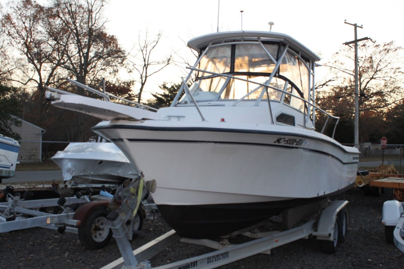 2001 Grady White Seafarer 228 walkaround boat Clean Title LOW RESERVE fishing 01