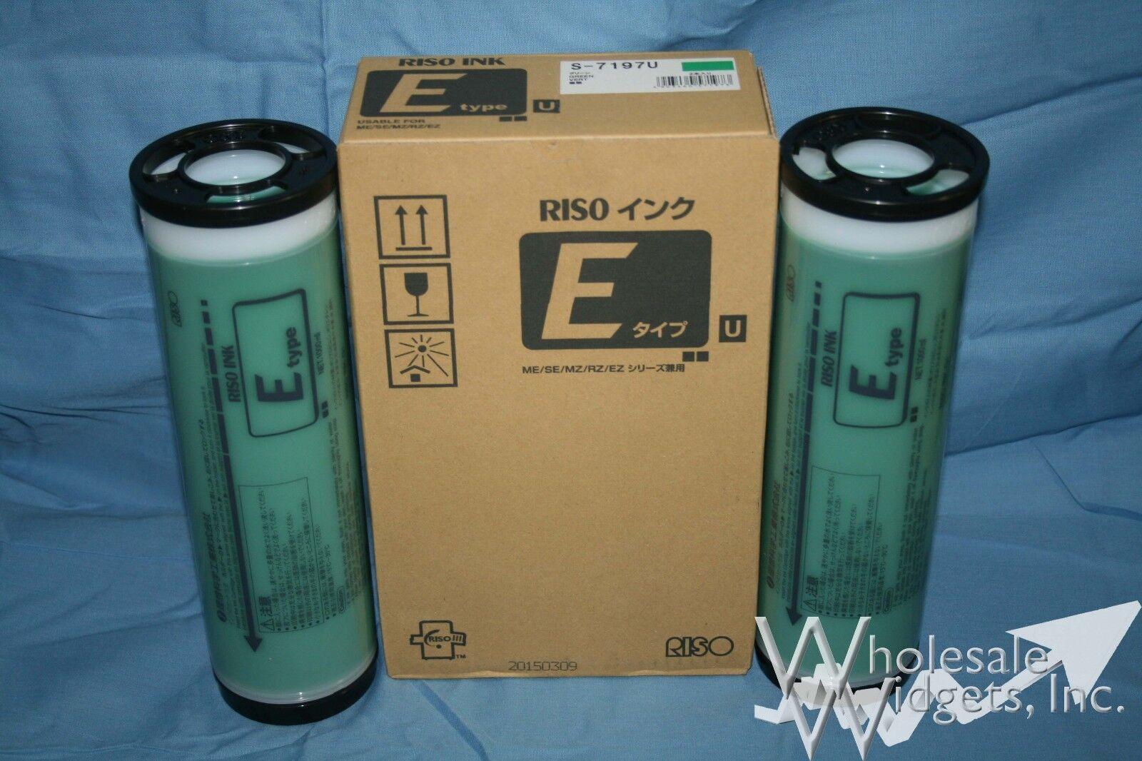 2 Genuine Riso S-7197 Green Ink Risograph S-4259 Ez Mz Rz...