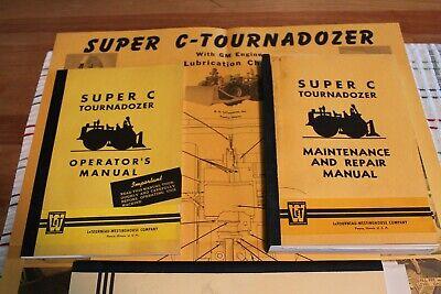 Rare Letourneau Westinghouse Super C Tournadozer Manual Catalog Collection