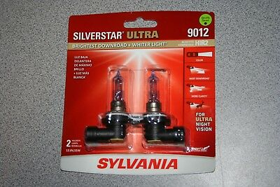 Sylvania Silverstar ULTRA 9012 Pair Set High Performance Headlight 2 Bulbs NEW