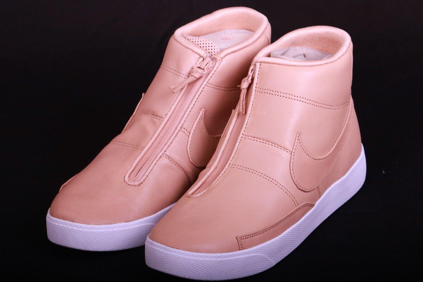 NIKE NikeLAB Blazer Advanced White Tan Brown Leather 874775 200 Size 9.5