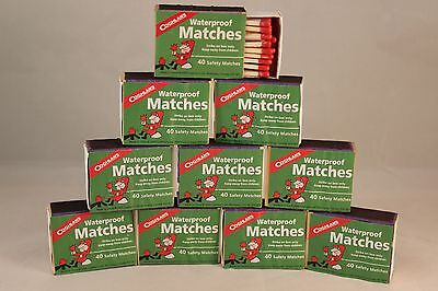 Waterproof Matches 10 Boxes Of 40  Over 400 Matches Cannot Light Accidentally
