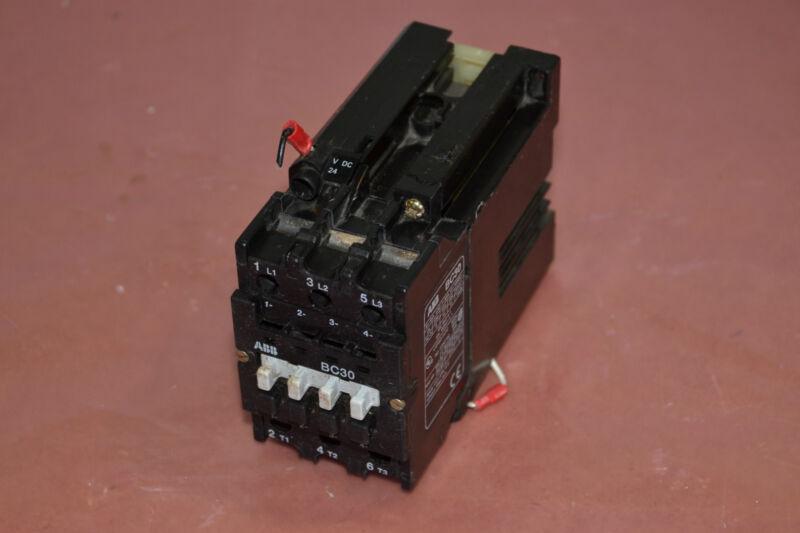 ABB CONTROL CONTACTOR BC30 BC30C-*EX BC300C24EX 24V DC COIL 45A 45 AMP