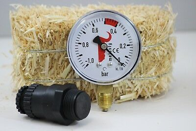 Melasty Vacuumetergauge For Milking Machine And Vacuum Regulator Combo