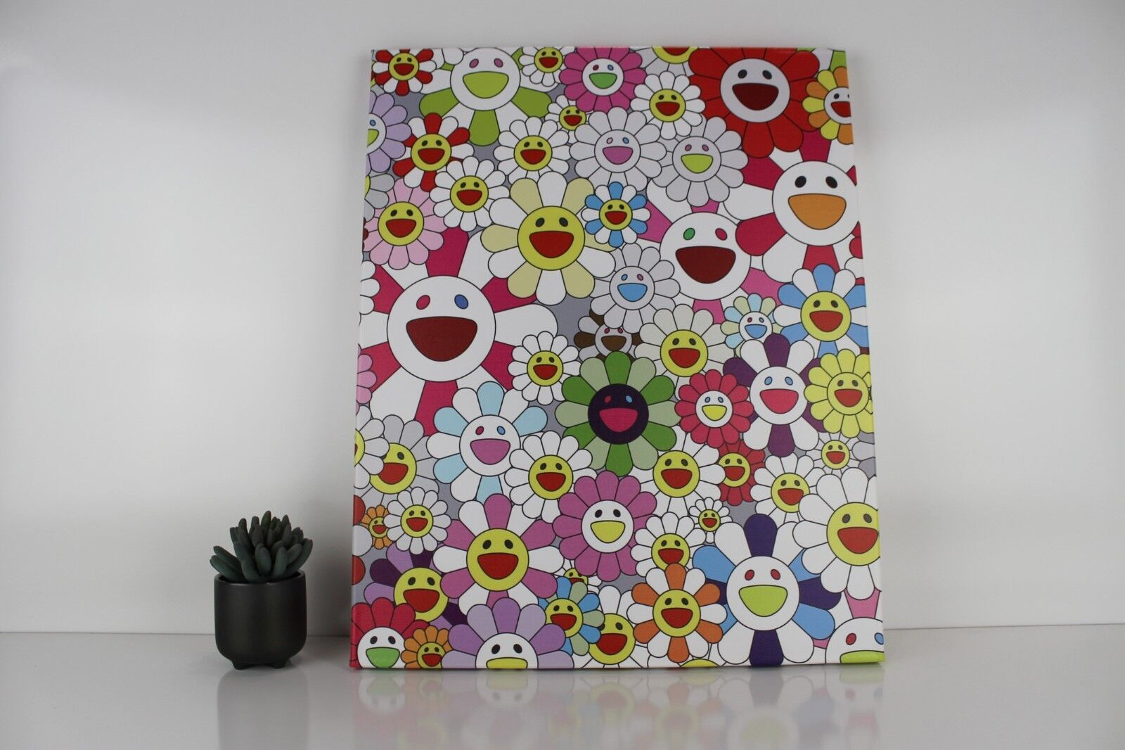 Gallery Art Canvas- Takashi Murakami Flowers in Heaven Smiley Faces Complexcon